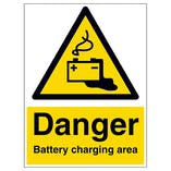Danger Battery Charging Area