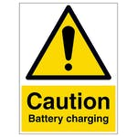 Caution Battery Charging