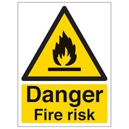 Danger Fire Risk - Portrait