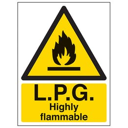 L.P.G. Highly Flammable - Portrait