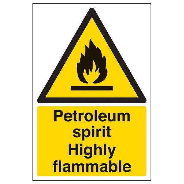 Petroleum Spirit Highly Flammable - Portrait