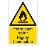 Petroleum Spirit Highly Flammable - Portrait