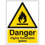 Danger Highly Flammable Gases - Portrait