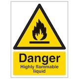 Danger Highly Flammable Liquid - Portrait