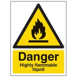 Danger Highly Flammable Liquid - Portrait