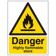 Danger Highly Flammable Store - Portrait