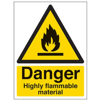 Danger Highly Flammable Material - Portrait