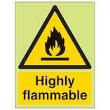 GITD Highly Flammable - Portrait