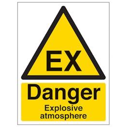 Danger Explosive Atmosphere - Portrait