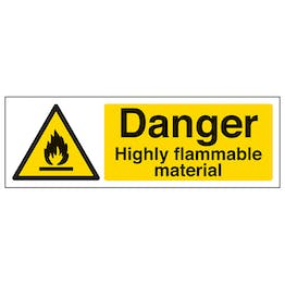 Danger Highly Flammable Material - Landscape
