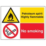 Petroleum Spirit/No Smoking