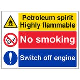 Petroleum Spirit/No Smoking/Switch Off