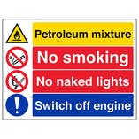 Petroleum/No Smoking/No Naked Lights/Switch Off