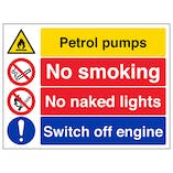 Petroleum Pumps/No Smoking/Switch Off