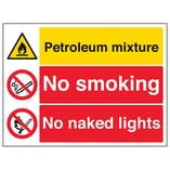 Petroleum Mixture/No Smoking/No Naked Lights
