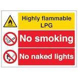 Highly Flammable LPG/No Smoking/Naked Lights
