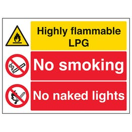 Highly Flammable LPG/No Smoking/Naked Lights