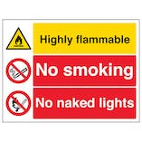 Highly Flammable/No Smoking/Naked Lights