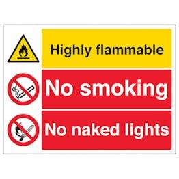 Highly Flammable/No Smoking/Naked Lights