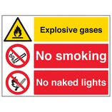Explosive Gases/No Smoking/No Naked Lights