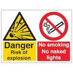 Danger Risk Of Explosion - Large Landscape