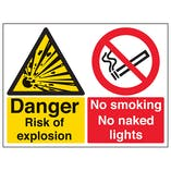 Danger Risk Of Explosion - Large Landscape