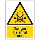 Danger Harmful Fumes - Portrait