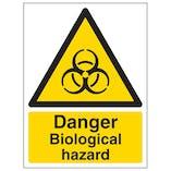 Danger Biological Hazard - Portrait