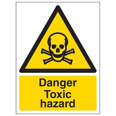 Danger Toxic Hazard - Portrait