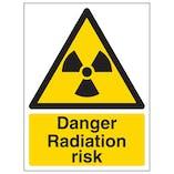 Danger Radiation Risk - Portrait