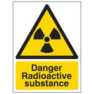 Danger Radioactive Substance - Portrait