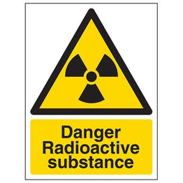 Danger Radioactive Substance - Portrait