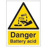 Danger Battery Acid - Portrait
