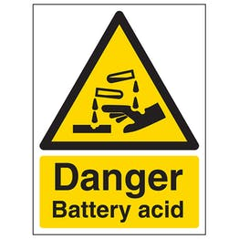 Danger Battery Acid - Portrait