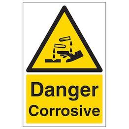 Danger Corrosive - Portrait
