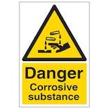 Danger Corrosive Substance - Portrait