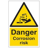 Danger Corrosion Risk - Portrait