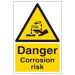 Danger Corrosion Risk - Portrait