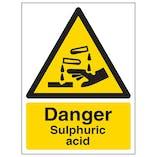 Danger Sulphuric Acid - Portrait