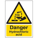 Danger Hydrochloric Acid - Portrait