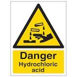 Danger Hydrochloric Acid - Portrait
