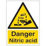 Danger Nitric Acid - Portrait