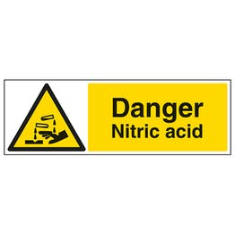Danger Nitric Acid - Landscape