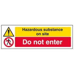 Hazardous Substance/Do Not Enter - Landscape