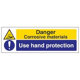 Corrosive/Use Hand Protection - Landscape