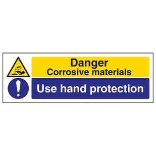 Corrosive/Use Hand Protection - Landscape