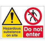 Hazardous Substance On Site Do Not Enter - Large Landscape