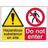Hazardous Substance On Site Do Not Enter - Large Landscape