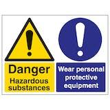 Hazardous Substances/Wear PPE - Large Landscape