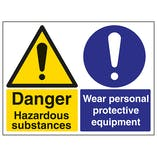 Hazardous Substances/Wear PPE - Large Landscape
